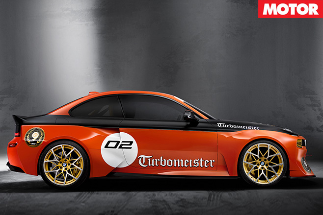 BMW 2002 Hommage racecar side