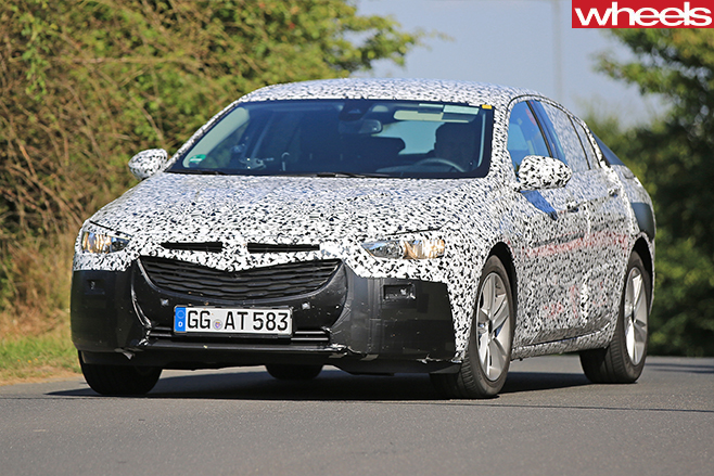 2017 Opel Insignia Spy Pics Front And Side