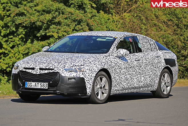 2017 Opel Insignia Spy Pics Turning