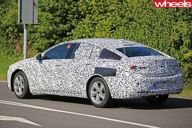 2017 Opel Insignia Spy Pics Side And Back