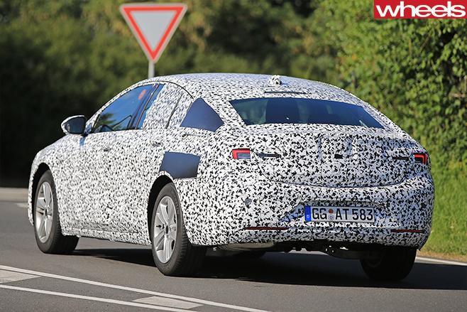 2017 Opel Insignia Spy Pics Rear