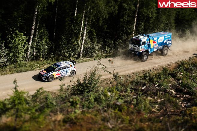 WRC Polo Vs Kamaz Dakar Truck 4
