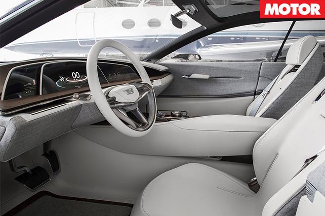 Cadillac Escala Concept front interior