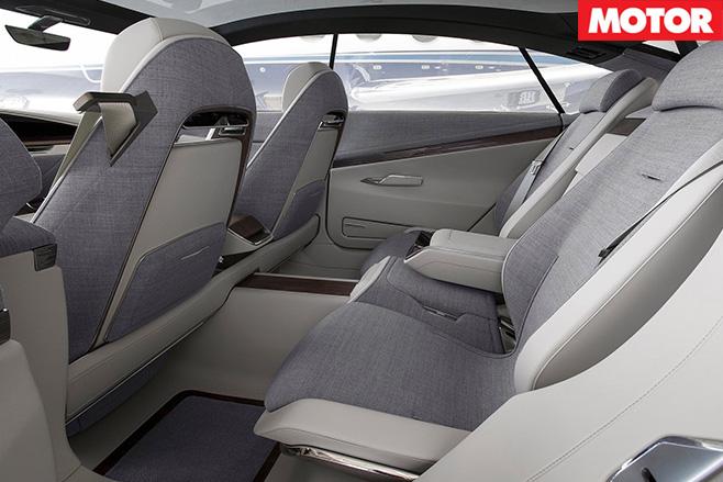 Cadillac Escala Concept rear seats
