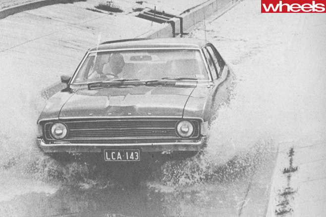 Ford -XA-Falcon -driving -through -water