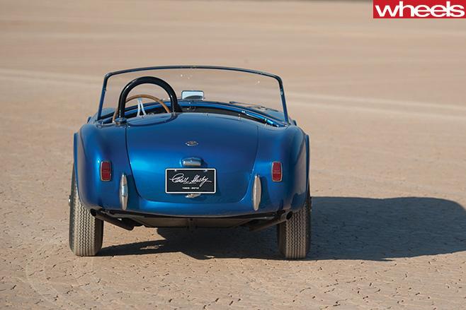Blue -shelby -cobra -rear