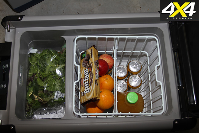 Travelmate fridge interior