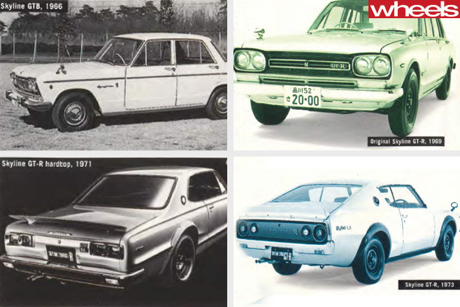 Nissan -Skyline -historical -photos