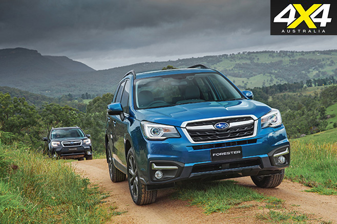 2016 Subaru Forester driving offroad