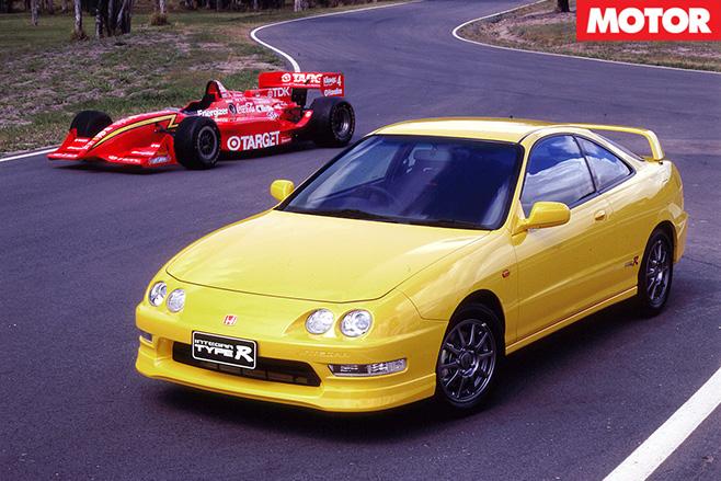 Honda Integra And F1 Car U201c