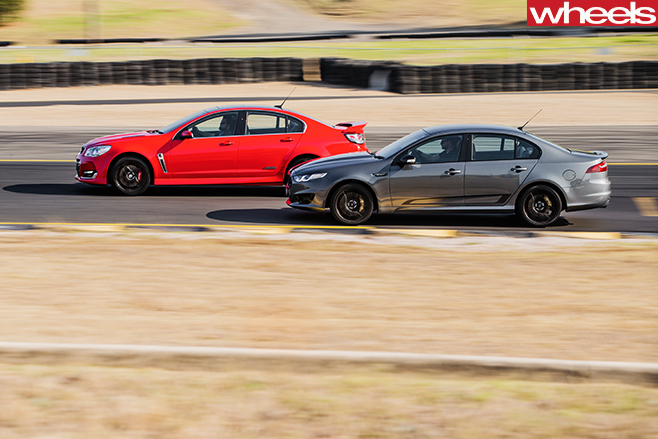 Holden -Commodore -vs -Ford -Falcon -racing