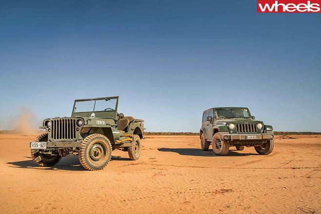 Classic -Willys -Wrangler -with -Jeep -Wrangler