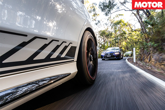 HSV-GTS-vs -Mercedes -AMG-C63-S-vs -Lexus -GS-Fdriving