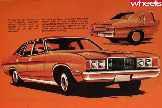1976-Ford -Falcon -orange -front -side
