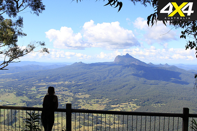 View of Mount Warning off in the distance