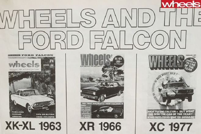 Wheels -Ford -Falcon -magazines