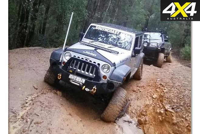 JK Jeep Wrangler Unlimited Sport driving