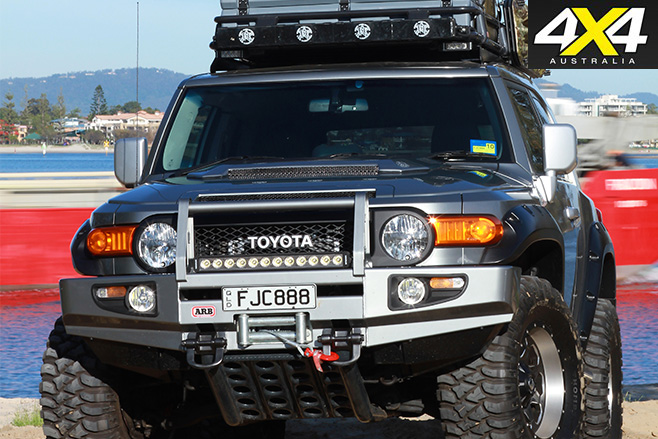 Modified Toyota FJ Cruiser front bar