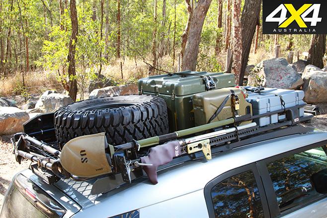 Modified Toyota FJ Cruiser roof rack