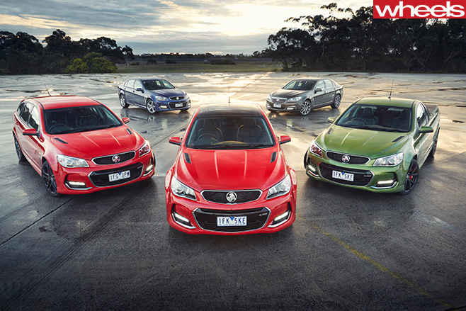 Holden -Commodores -parked -proving -ground