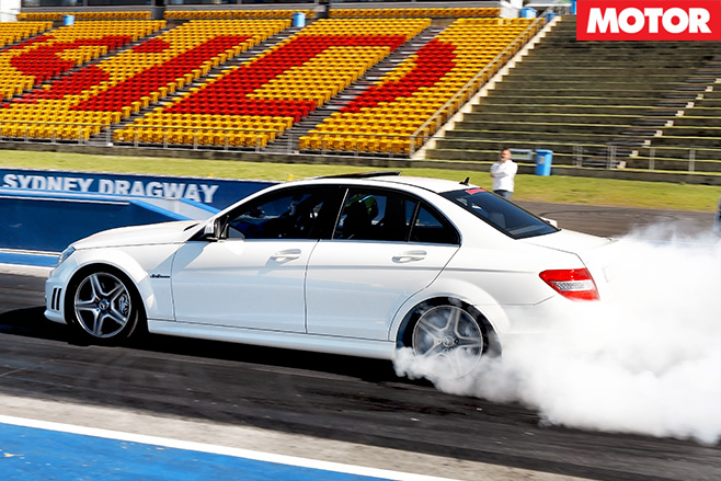 White merc burnout