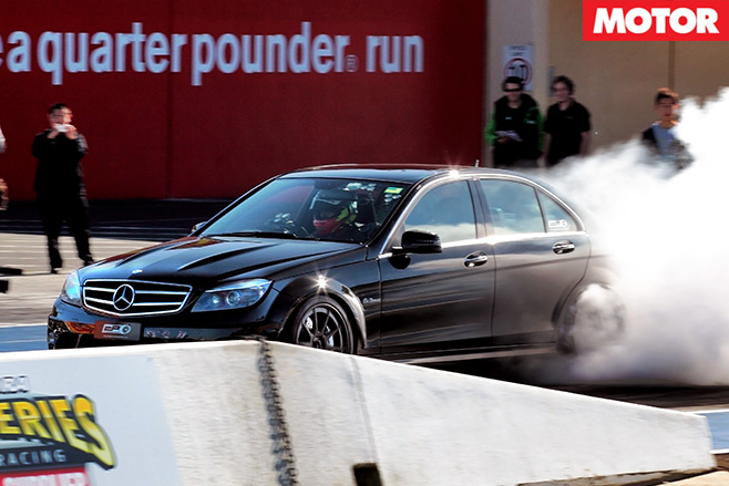 Black merc burnout