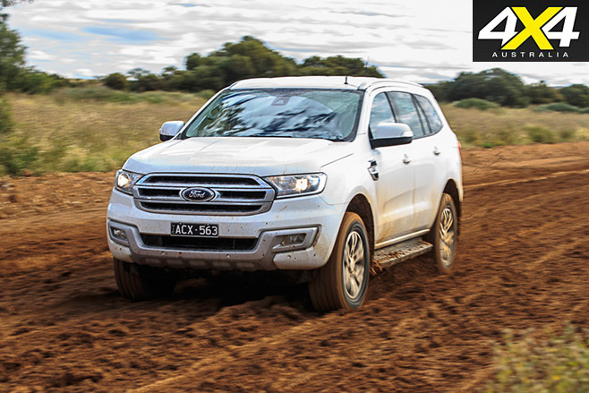 Ford Everest Trend mud driving