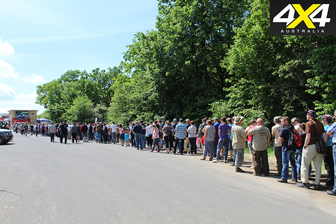 Overland expo queue