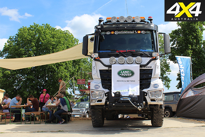 Land rover truck and canopy