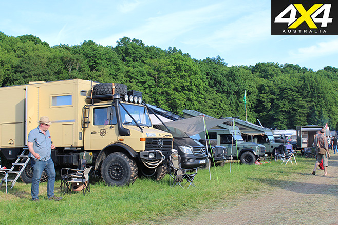 Heaps of 4x4s parked in campgrounds