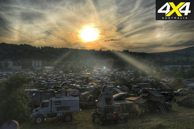 Sunset over the show