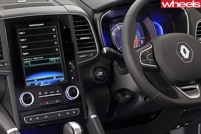 Renault -Koleos -touchscreen