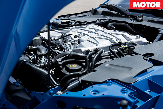 Jaguar F-Type SVR engine