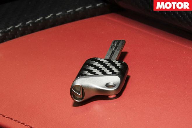Lexus LFA nurburgring keys