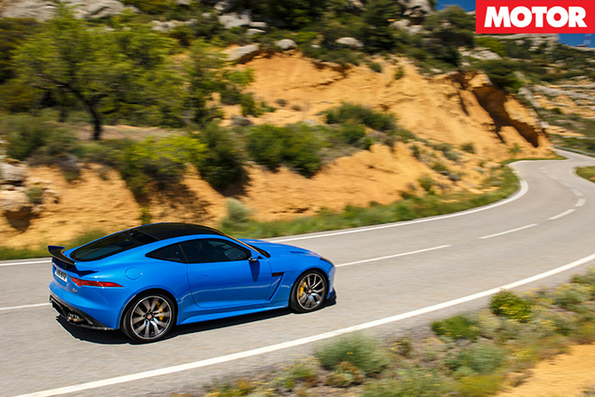 Jaguar F-Type SVR rear driving