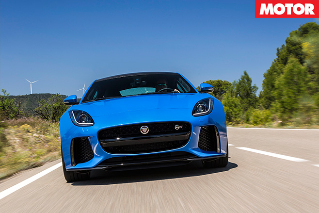 Jaguar F-Type SVR front driving