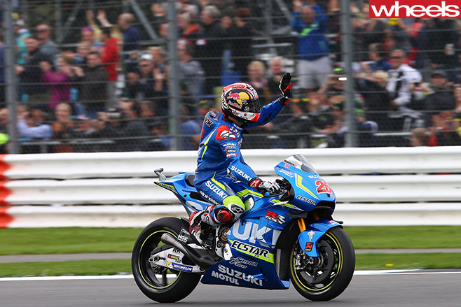 Moto GP-Race -Vinales -on -Suzuki