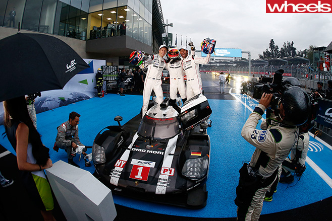 Mark -Webber -celebrates -Porsche -WEC-win