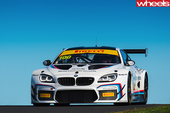 BMW-M3-GT3-racing -at -Bathurst -12-hour -front