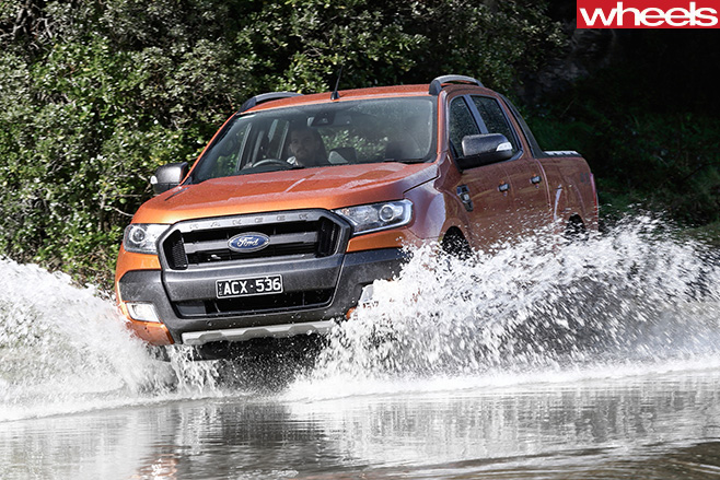 Ford -Ranger -ute -driving -front -side