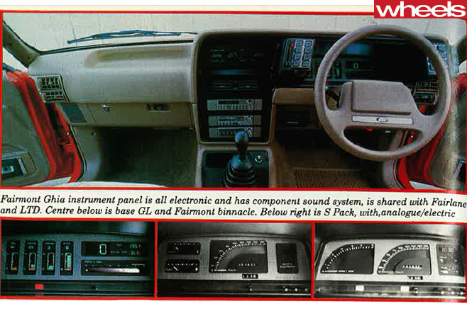 1984-Ford -Falcon -Ghia -interior