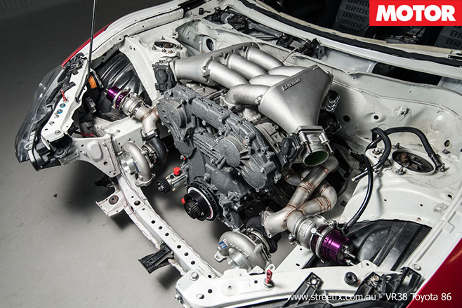 GT-R engined Toyota 86 engine