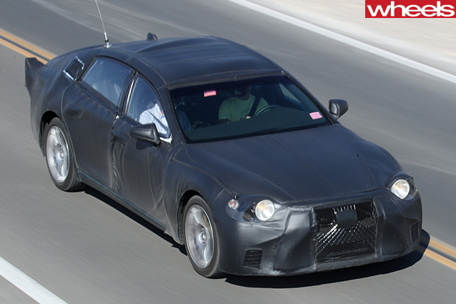 2018-Lexus -LS-spy -pic -driving -front -top -side
