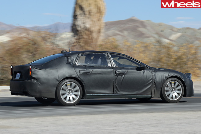 2018-Lexus -LS-spy -pic -driving -side
