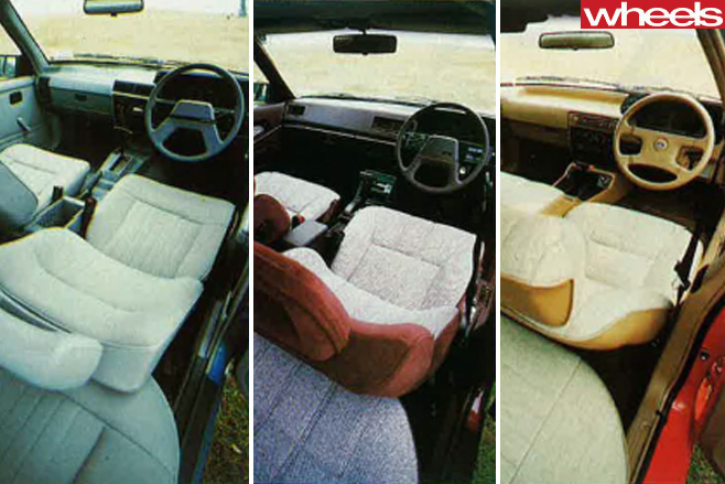 1986-Ford -Falcon -vs -Holden -Commodore -Mistubishi -Magna -interiors