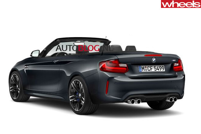 BMW-M2-convertible -roof -down -rear
