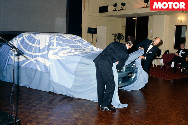 Brock Unveiling a car