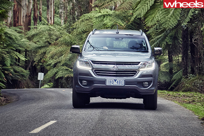 Holden -Trailblazer -SUV-front -driving