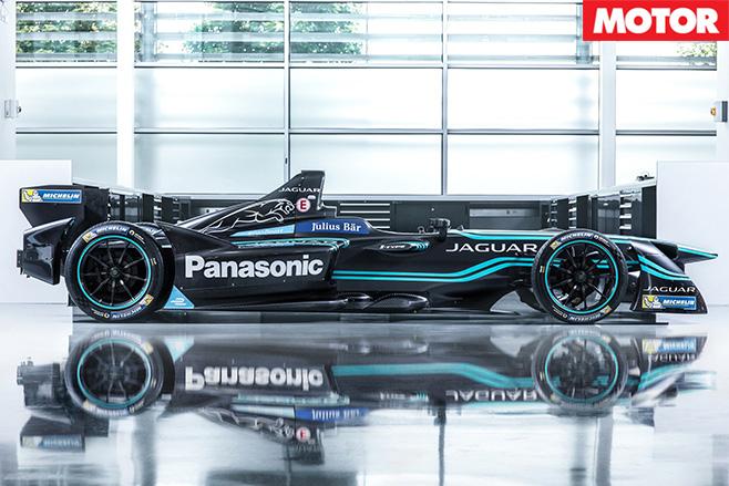 Jaguar I-Type launches Formula-E bid side