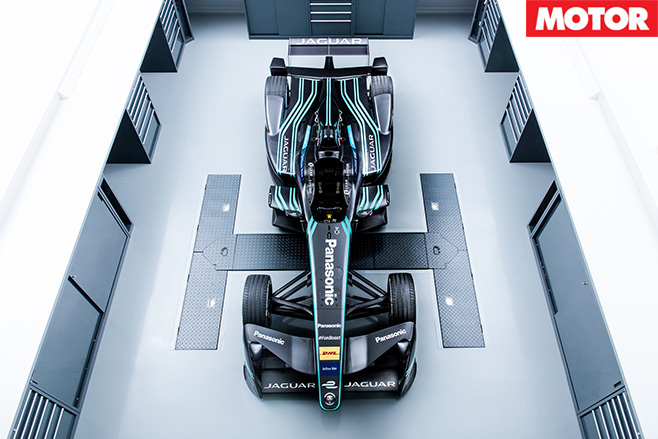 Jaguar i-type top view front